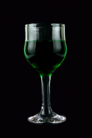 Green color wine on black Stock Photo - 5131008
