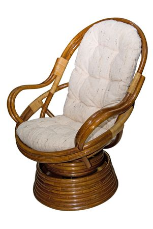 Rocking chair isolated on white background photo
