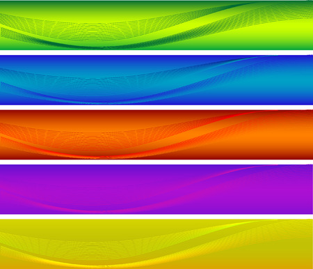 Abstract vector colorful banners Vector