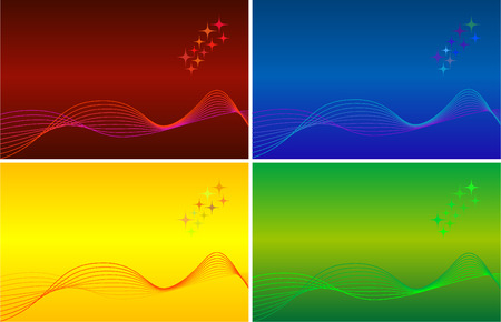 Abstract vector colorful background sets Vector