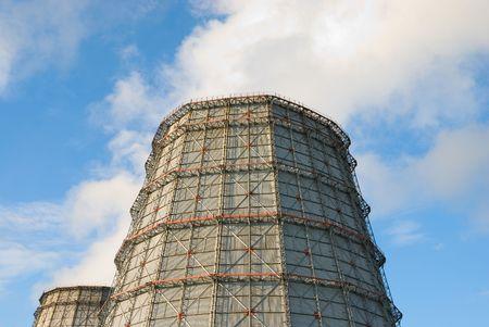 coal power plant on blue sky background Stock Photo - 5275067