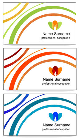 Vector design of business cards  Vector