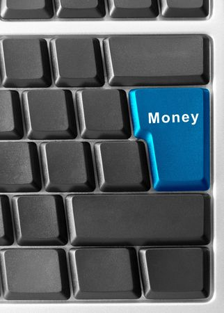 computer keyboard with MONEY buttons photo