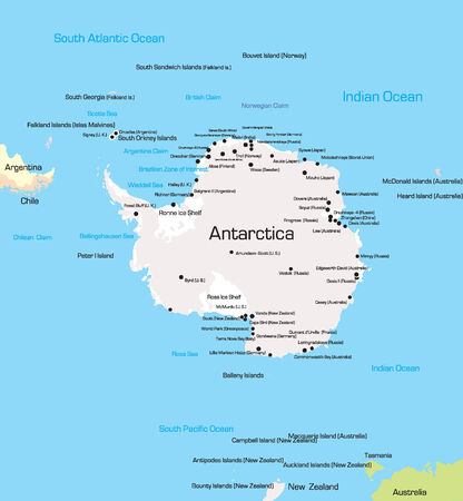 antarctica: Vector color Map of Antarctica  Illustration