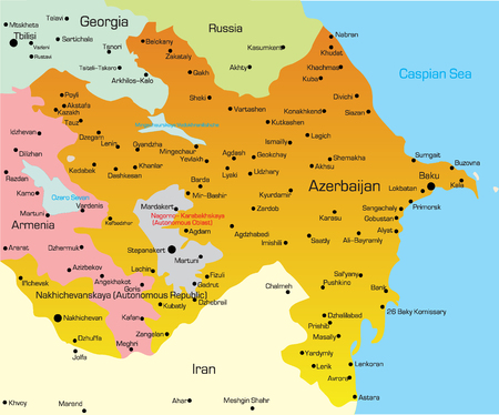 azerbaijan: Vector illustration of Azerbaijan Map