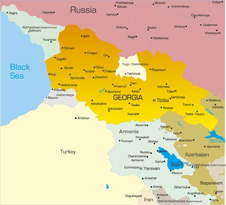 Vector illustration of georgia map Vector