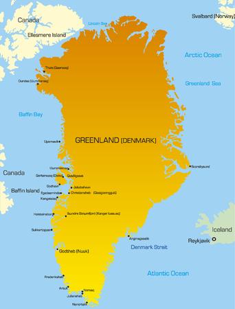 Vector illustration of greenland map  Vector
