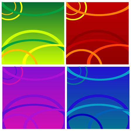 Abstract vector colorful design sets Vector
