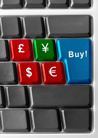 computer keyboard with currency buttons Stock Photo - 5345980