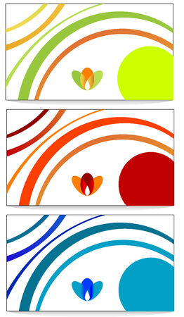 Abstract Vector design of color business cards  Vector