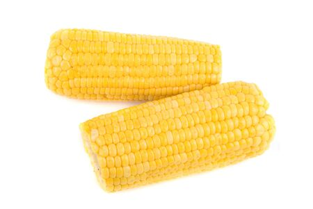 ripe yellow Corn isolated on white background photo