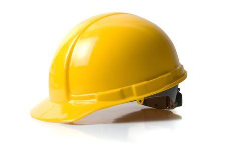 Yellow helmet isolated on white background Stock Photo - 5517188