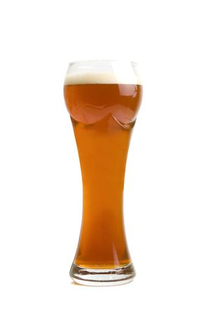 Glass of Brown Beer isolated on a white background  photo