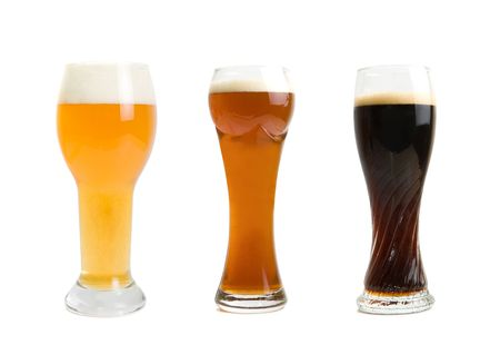 Set of different Beer Glasses  isolated on a white background photo