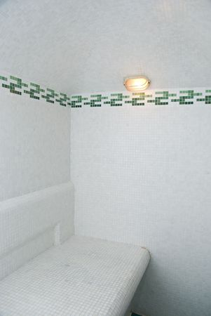 The Turkish bath with ceramic tile  photo