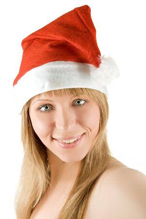 Beautiful mrs. santa isolated on white background Stock Photo - 5932020