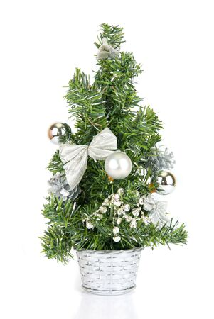 Christmas firtree isolated on a white background photo