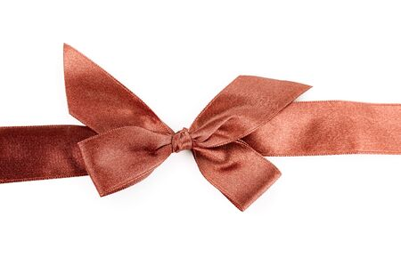 red holiday ribbon on white background photo
