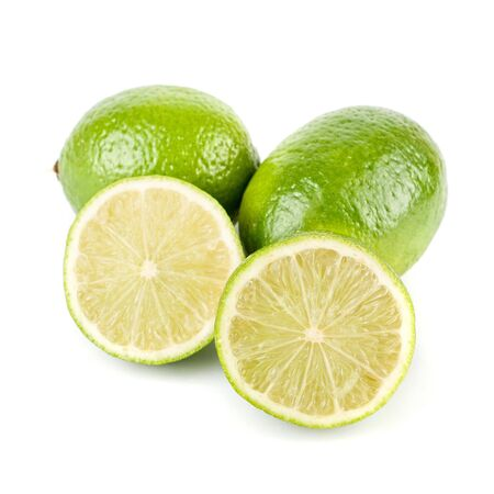 ripe lime isolated on a white background photo
