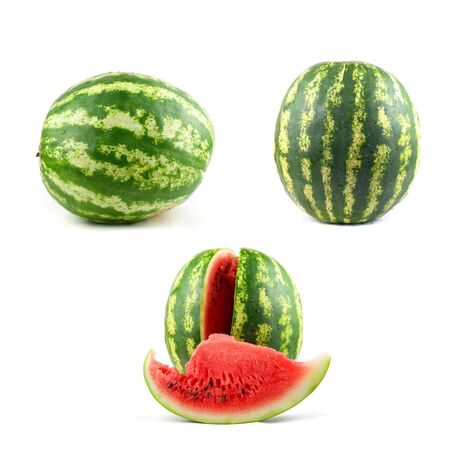 watermelon set isolated on a white background photo