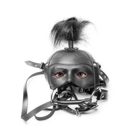 sadomasochism: sadomasochism mask with eyes isolated on a white background