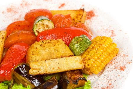 closeup of tasty assorted grilled vegetables i Stock Photo - 6870970