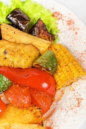 tasty assorted grilled vegetables gourmet food Stock Photo - 6870998