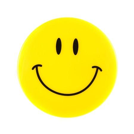 caras felices: Smiley Face aislado en un fondo blanco  Foto de archivo