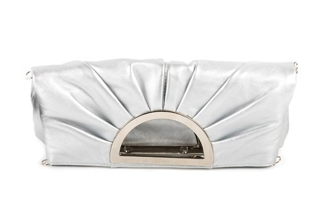 Lady handbag clutch isolated on a white photo