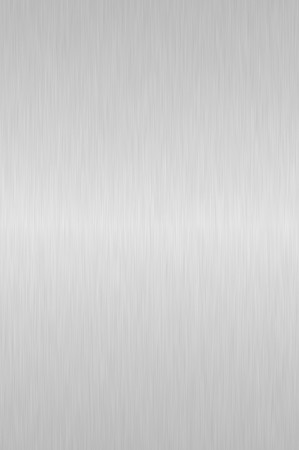 Shiny silver brushed steel background photo