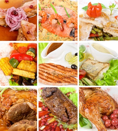 Food set of different tasty dishes Stock Photo - 7185814