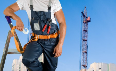 steeplejack: steeplejack closeup on building background