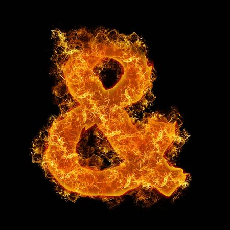 num: Fire sign AND on a black background
