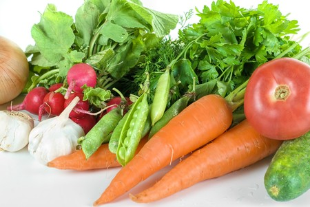 heap of vegetables isolated on white background Stock Photo - 7496172