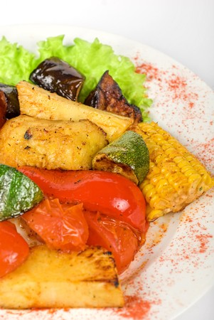 tasty assorted grilled vegetables gourmet food photo