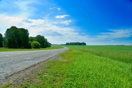Picture of empty countryside road Stock Photo - 7699827