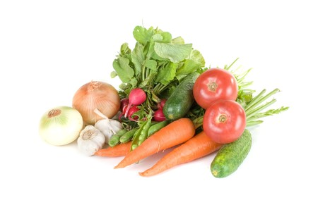 heap of vegetables isolated on white background Stock Photo - 7699811