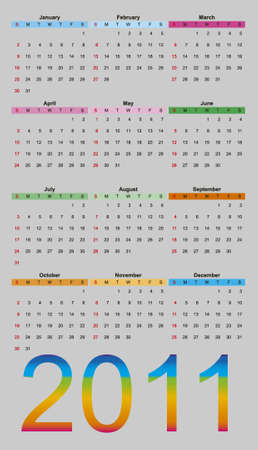 illustration of calendar 2011 Stock Illustration - 7753473