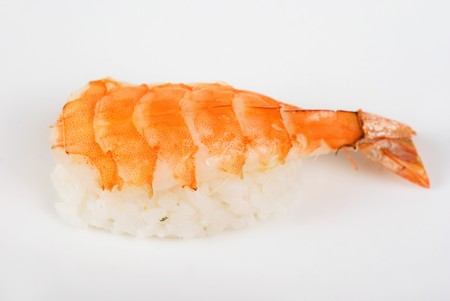 nigiri sushi closeup isolated on white background photo
