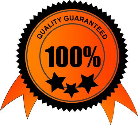 tampon approuv�: 100 % qualit� garantie vecteur  Illustration