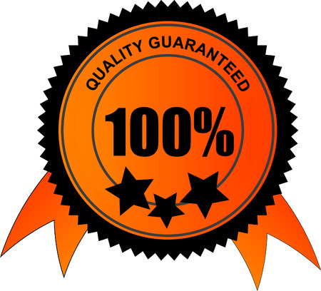 quality stamp: 100 percent quality guaranteed vector  Illustration