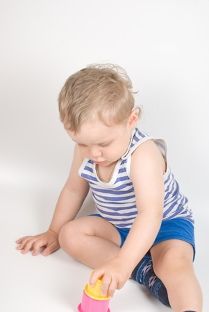 Small baby with a toy Stock Photo - 8400000