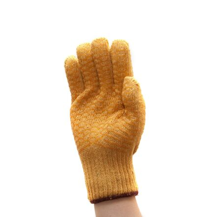 work glove isolated on a white background photo