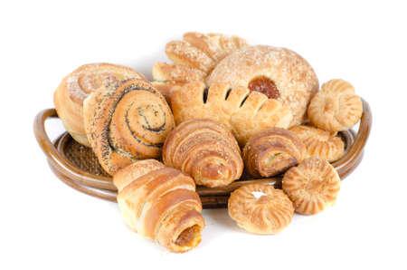 Bakery foodstuffs set on a white background Stock Photo - 9200142