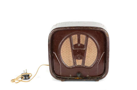 Old Radio 50s - 60s isolated on a white photo