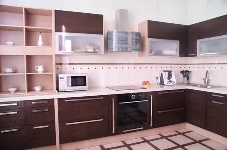 Photo de l'intérieur de cuisine de style moderne Banque d'images - 9658441