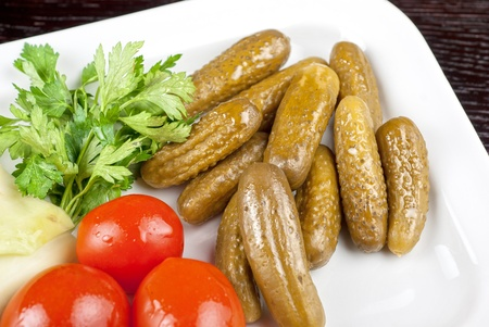 pickled vegetables of tomato, cucumber and cabbage Stock Photo - 9785628