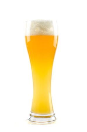 Glass of beer isolated on a white background Stock Photo - 9884607