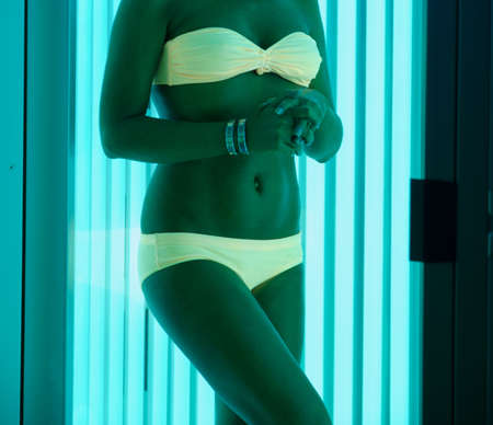 beautiful girl closeup in swimsuit at solarium Stock Photo - 9884713