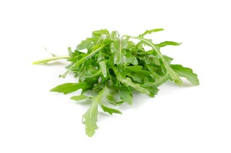 ruccola: Ruccola salad fresh heap leaf isolated on a white Stock Photo